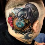 Pegion in a Hurry Head tattoo
