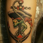 Pirate Skull Anchor tattoo