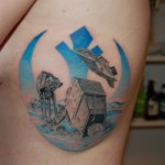 Planet Hoth Battle Star Wars tattoo