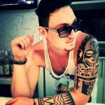 Polynesy Full hand tattoo