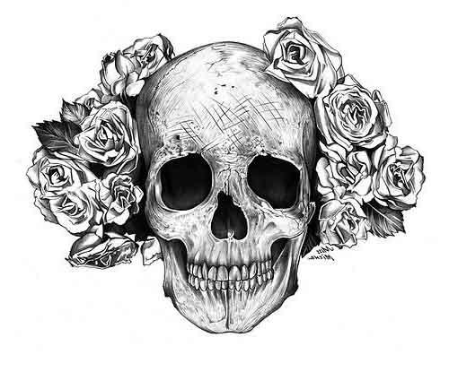 Pretty Lady Skull tattoo