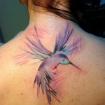 Purple Colibri tattoo