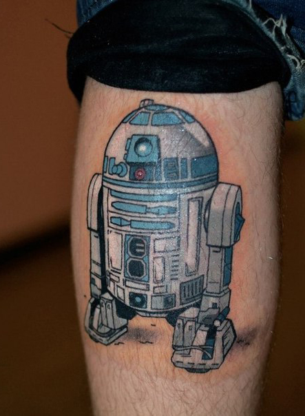 R2D2 Ankle Simple Star Wars tattoo