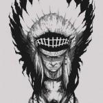 Rage Heart Indian tattoo
