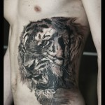 Rampageous Belly Side Tiger tattoo