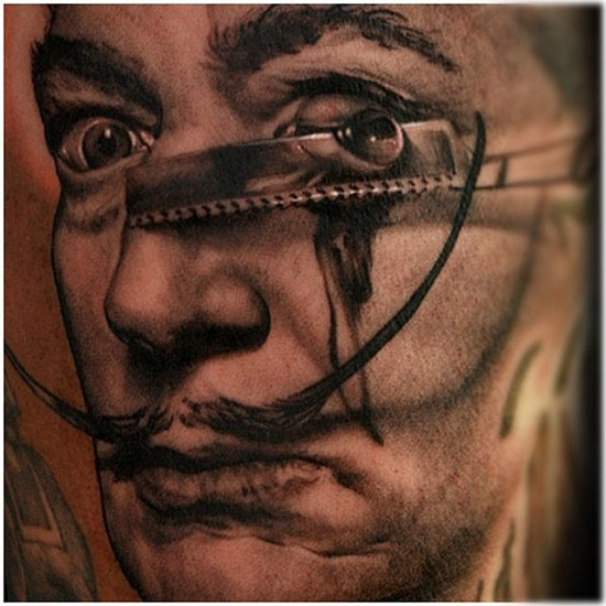Razor Eye Salvador realistic tattoo