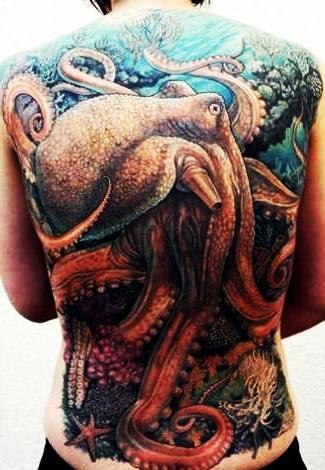 Reef Master Octopus tattoo