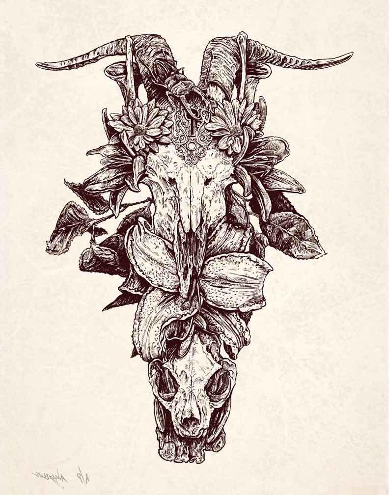 Roadtrip Skull tattoo