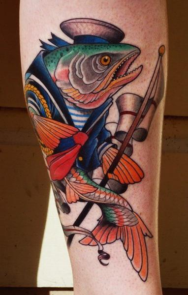 Sailor Fish tattoo