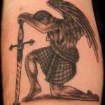 Scotish Angel warrior tattoo