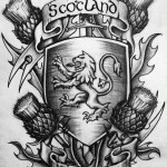 Scotland Forever graphic tattoo