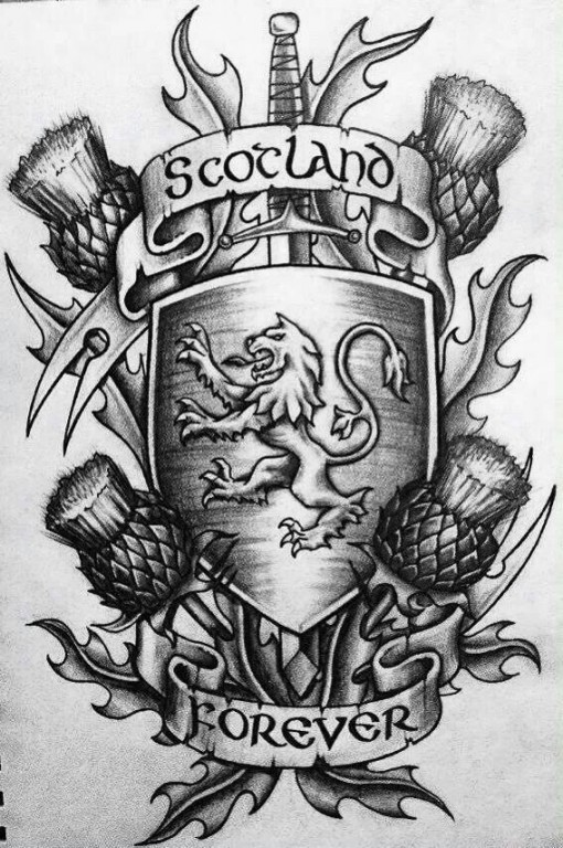 Scotlands Forever graphic tattoo