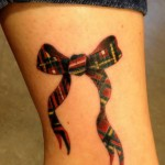 Scottish bow-knot tattoo