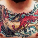 Sea Monsters Fight tattoo