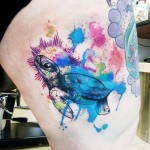 Shining Sea Turtle tattoo