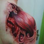 Shoulder Muscle organic tattoo