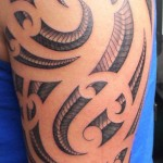 Shoulder Snake Skin tribal tattoo
