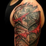 Shouler Armor 3D tattoo