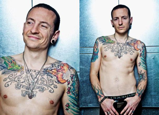 Smiling Chester Bennington tattoo Linkin Park