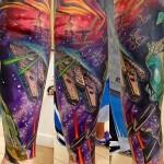 Space Dogfight Star Wars tattoo