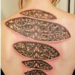 Spine Cogwheel Mechanism biomechanic tattoo