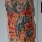 Star Wars Empire Salvador Dali theme tattoo