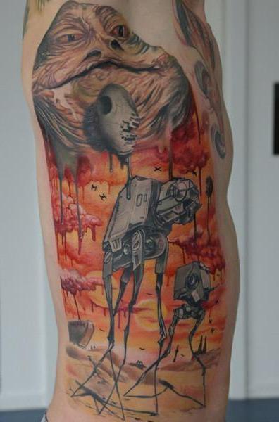 Star Wars Empire Salvador Dali theme tattoo