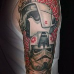 Star Wars Troopers Shoulder Tattoo