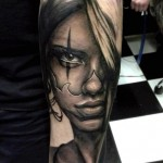 Tattooed Face realistic tattoo