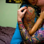 Traditional Sleeves couple tattoos