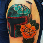Traditional Style Boba Fett Star Wars tattoo