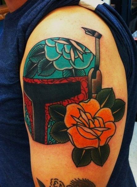 Traditional Style Boba Fett Star Wars Tattoo Best Tattoo Ideas Gallery