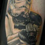 Trooper Aiming Star Wars tattoo