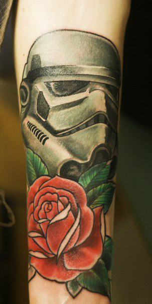 Trooper Rose Star Wars tattoo