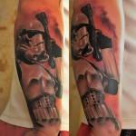 Trooper With Blaster Star Wars tattoo