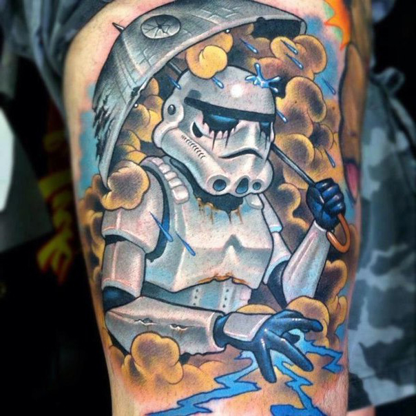 Under My Umbrella  Star Wars tattoo