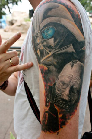 Vader's Real Face Star Wars tattoo