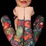 Veagan tattoo sleeves on both hands