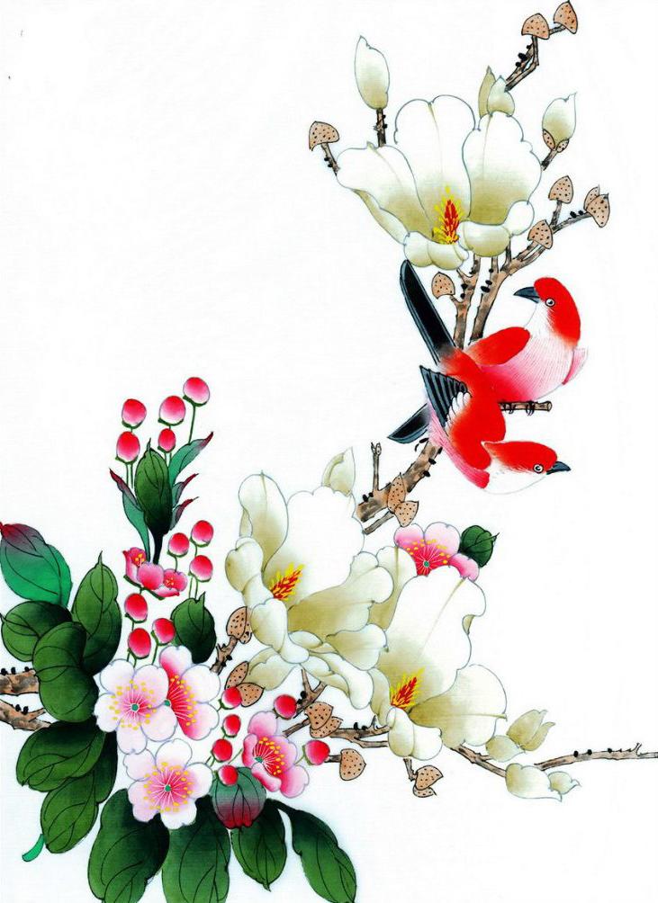White flowers tattoo for girls