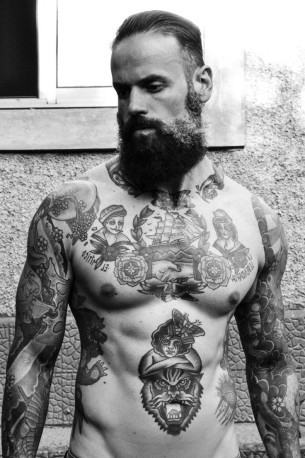 Whole Body tattoo picture for men