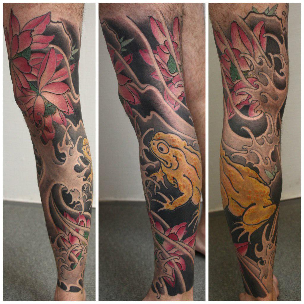 Yellow Frog japanese tattoo idea