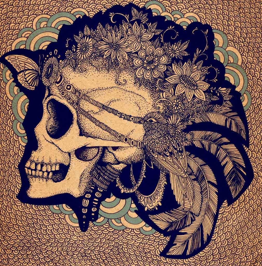 Young Hindu Girl Skull