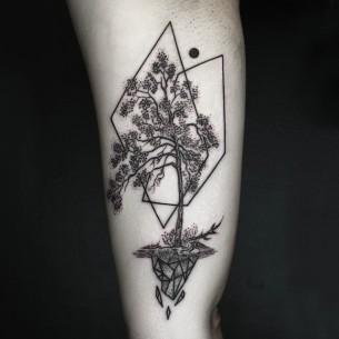 Simple tree tattoo