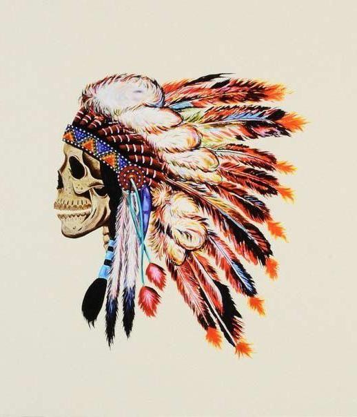 Aquarelle Indian Scull