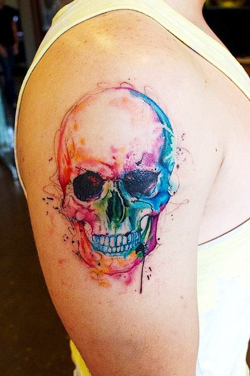 Evil Smile Scull tattoo