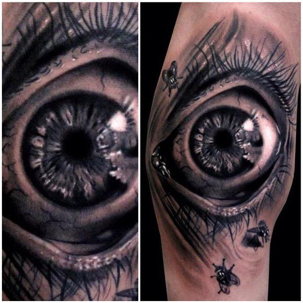 Scared Eye realistic tattoo