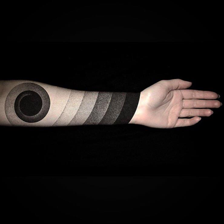 magic dotwork tattoo