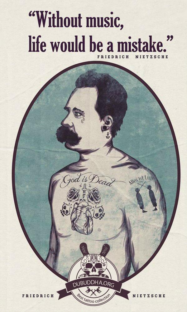 Nietzsche quote tattoo