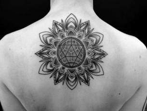 3D Geometry Mandala tattoo by Corey Divine