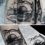 Abandoned House Graphic tattoo idea